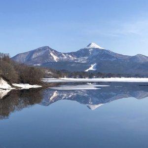 桧原湖の解氷状況